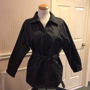 NWOT Black nylon lined jacket water repellent